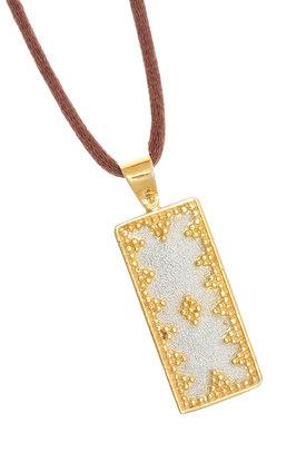 γυναικείο μενταγιόν, δίχρωμο, βυζαντινής τεχνοτροπίας, χειροποίητο σε ασήμι 925' / 2ME0003