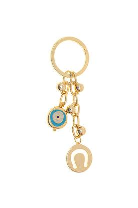 Μπρελόκ - Κλειδοθήκη με πέταλο και μάτι, κατασκευασμένο από ορείχαλκο / 2ΜΡ0082