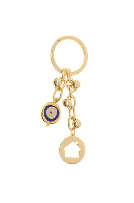 Μπρελόκ - Κλειδοθήκη με σπιτάκι και μάτι, κατασκευασμένο από ορείχαλκο / 2ΜΡ0081