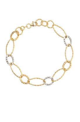 γυναικείο βραχιόλι, δίχρωμο, σε χρυσό και λευκόχρυσο Κ14 / 1BR1475