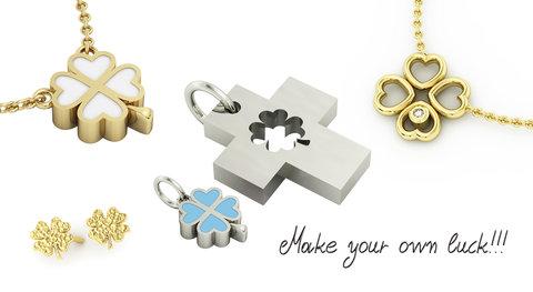 Κοσμήματα με Τετράφυλλα - Δώρα για Καλή Τύχη
