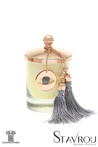 διακοσμητικό δώρο για το σπίτι και το γραφείο, αρωματικό κερί με μάτι, κατασκευασμένο από ορείχαλκο και δεμένο με αλυσίδα και φούντα / 2ΔΙ0342 logo