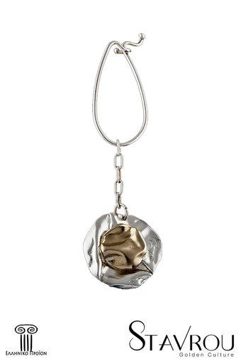 μπρελόκ - κλειδοθήκη, χειροποίητο, ασημένιο, δίχρωμο / 2ΜΡ0057 logo