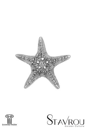 πρες παπιέ, αστερίας, διακοσμητικό δώρο γραφείου - σπιτιού από ανακυκλωμένο αλουμίνιο / 2ΔΙ0315 logo