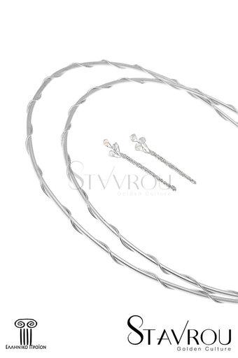 στέφανα γάμου, και καρφίτσες για τον γαμπρό και τον κουμπάρο, χειροποίητα, ασημένια 925' / 2ΣΦ0003 logo