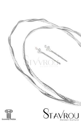 στέφανα γάμου, και καρφίτσες για τον γαμπρό και τον κουμπάρο, χειροποίητα, ασημένια 925' / 2ΣΦ0006 logo