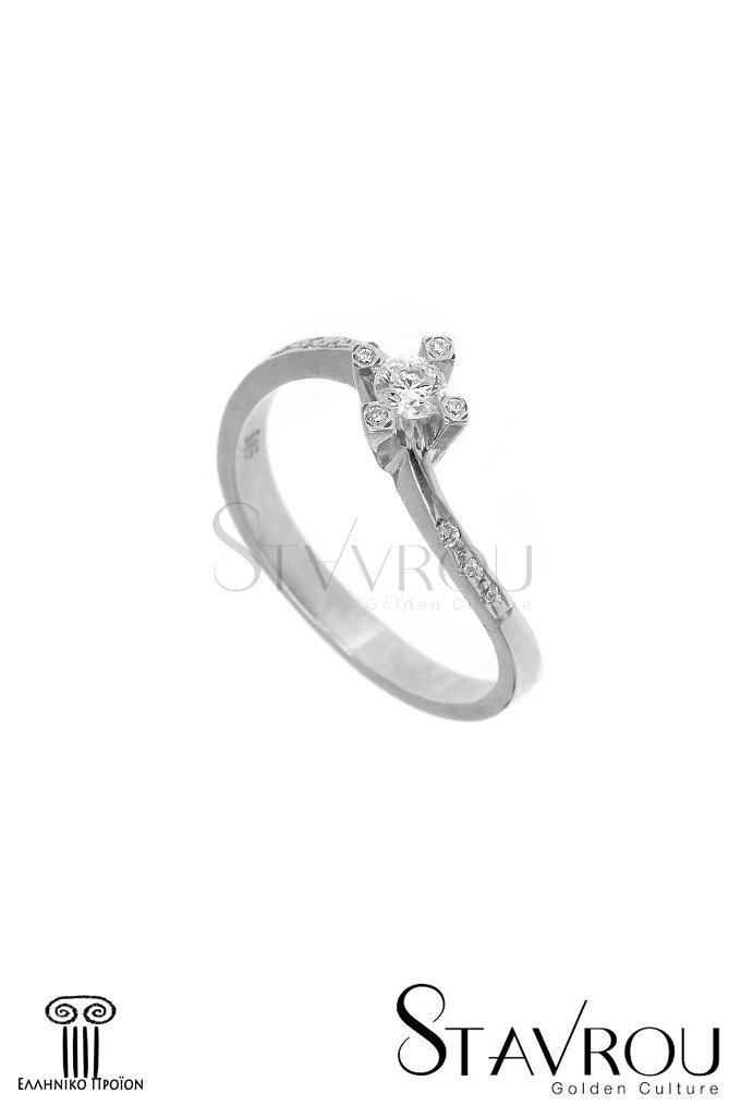 Δαχτυλίδι Γυναικείο   Χρυσό Κ14 μονόπετρο 1DA2827  08f60b2d55a