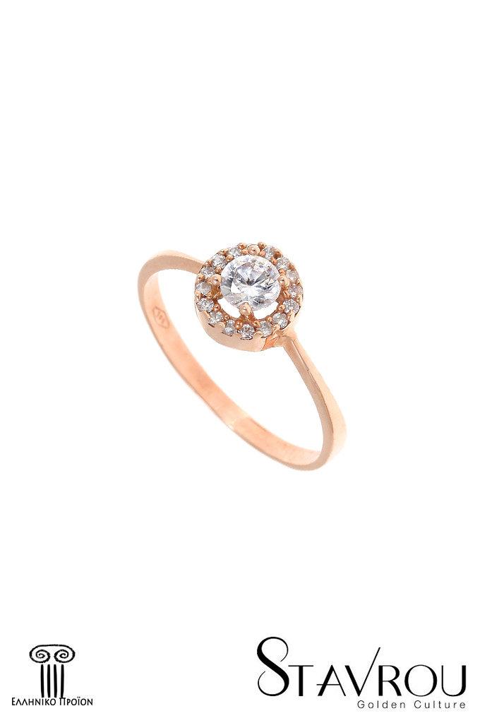 Γυναικείο Δαχτυλίδι ροζέτα   Χρυσό Κ14 1DA2846  79ca586fe45
