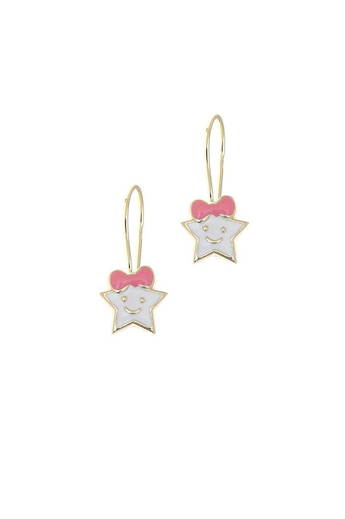 bd8a31da51 Παιδικά Σκουλαρίκια αστεράκια   Χρυσά Κ9 1SK2186